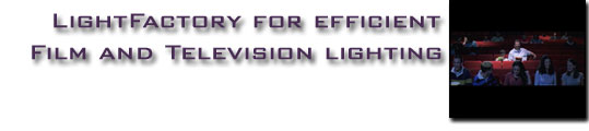 LightFactory for Efficient Film and Television Lighting